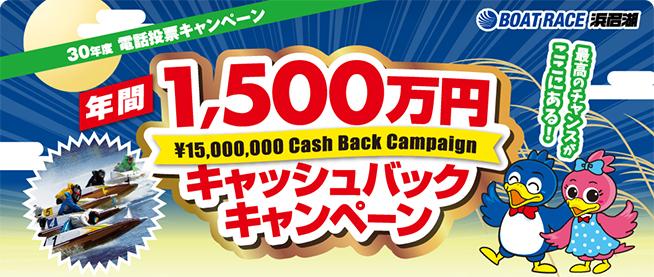 年間1500万円キャッシュバックキャンペーン